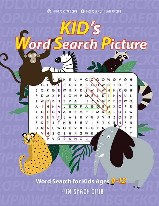 Word Search Book for Kids Ages 9-12